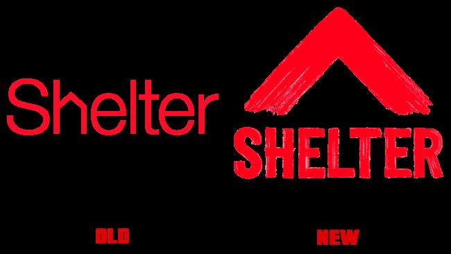Shelter altes und neues Logo (Geschichte)