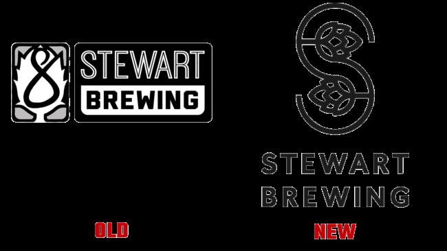Stewart Brewing Altes und Neues Logo (Geschichte)