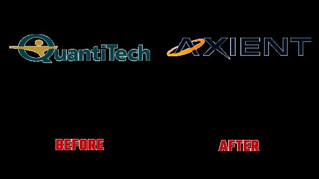Axient Vorher und Nachher Logo (Geschichte)