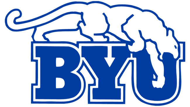 Brigham Young Cougars Logo 1969-1998