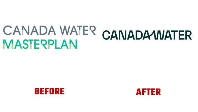 Canada Water Vorher und Nachher Logo (Geschichte)