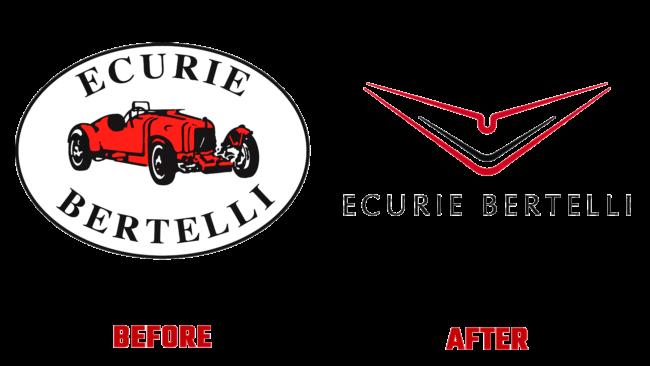 Ecurie Bertelli Vorher und Nachher Logo (Geschichte)