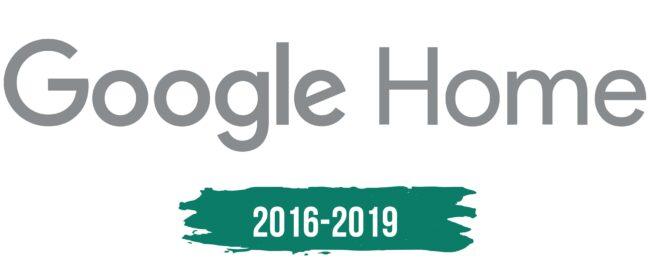 Google Home Logo Geschichte