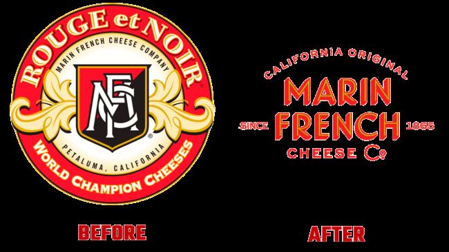 Marin French Cheese Vorher und Nachher Logo (Geschichte)