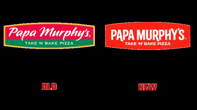 Papa Murphy's Altes und Neues Logo (Geschichte)