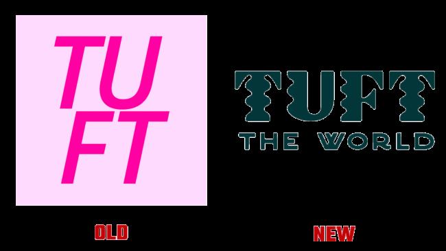 Tuft the World Altes und Neues Logo (Geschichte)