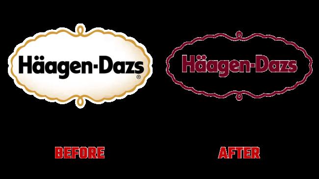 Haagen-Dazs Vorher und Nachher Logo (Geschichte)