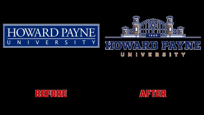 Howard Payne University Vorher und Nachher Logo (Geschichte)