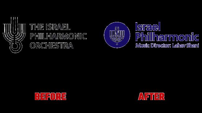 Israel Philharmonic Orchestra Vorher und Nachher Logo (Geschichte)