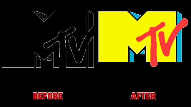 MTV Vorher und Nachher Logo (Geschichte)