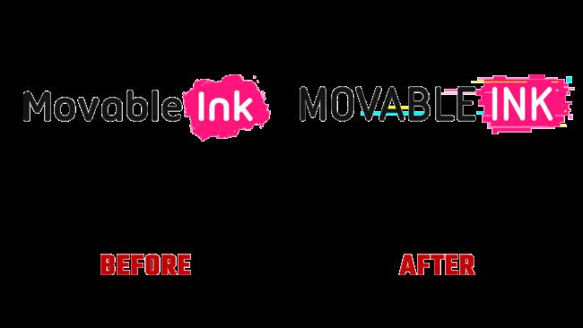 Movable Ink Vorher und Nachher Logo (Geschichte)