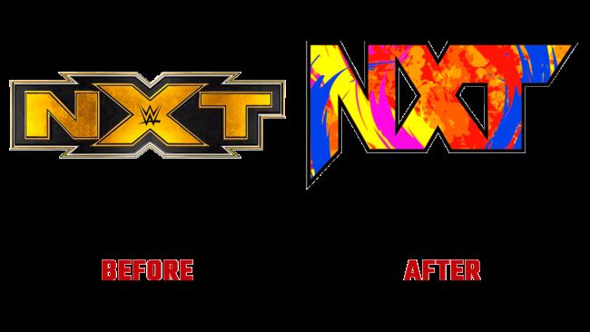 NXT Vorher und Nachher Logo (Geschichte)