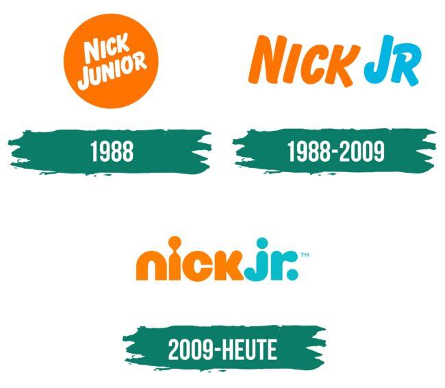 Nick Jr Logo Geschichte