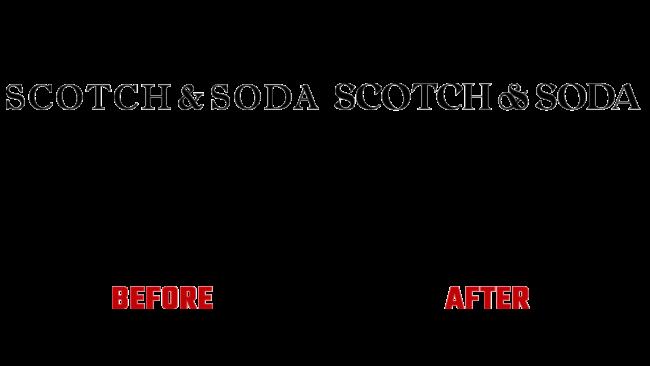 Scotch & Soda Vorher und Nachher Logo (Geschichte)