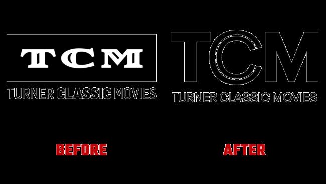 Turner Classic Media Vorher und Nachher Logo (Geschichte)