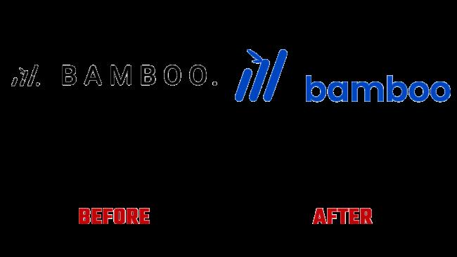 Bamboo Vorher und Nachher Logo (Geschichte)