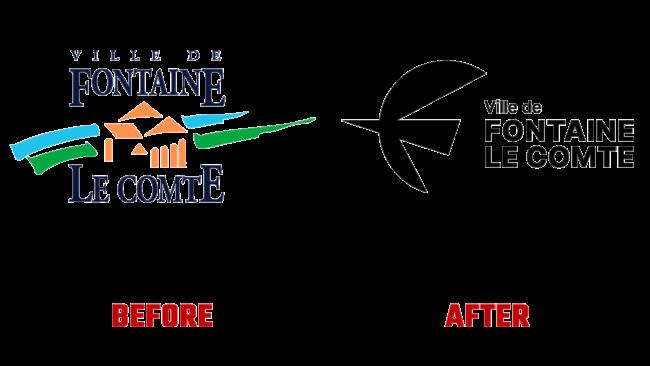Fontaine le Comte Vorher und Nachher Logo (Geschichte)