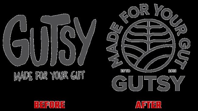 Gutsy Vorher und Nachher Logo (Geschichte)
