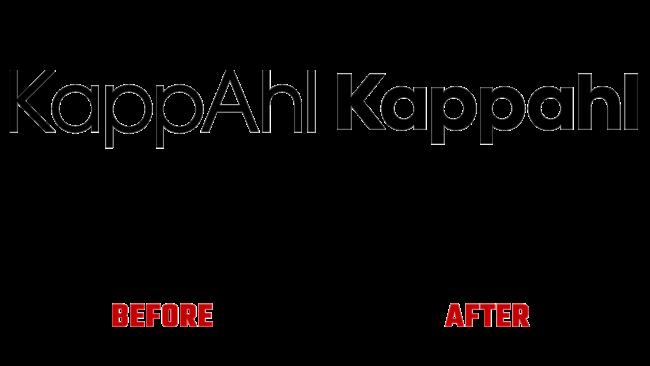 Kappahl Vorher und Nachher Logo (Geschichte)