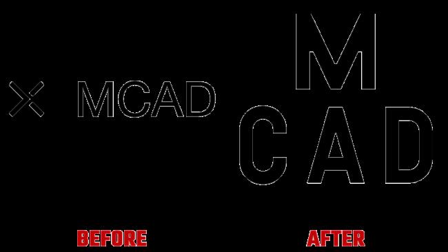 Minneapolis College of Art and Design (MCAD) Vorher und Nachher Logo (Geschichte)