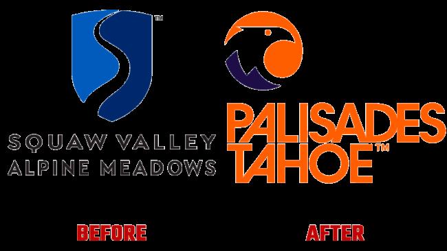 Palisades Tahoe Vorher und Nachher Logo (Geschichte)