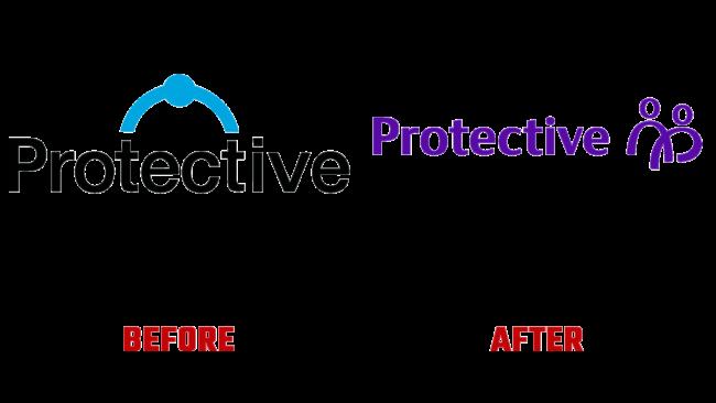 Protective Vorher und Nachher Logo (Geschichte)