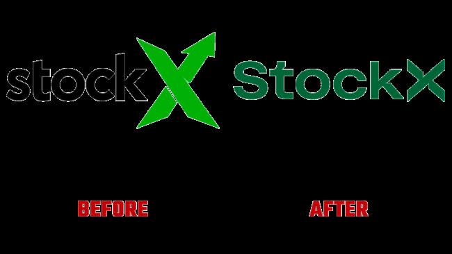 StockX Vorher und Nachher Logo (Geschichte)