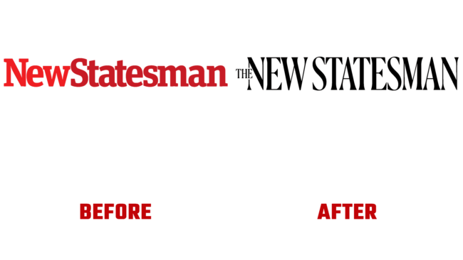 The New Statesman Vorher und Nachher Logo (Geschichte)