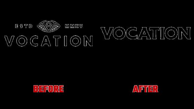 Vocation Vorher und Nachher Logo (Geschichte)