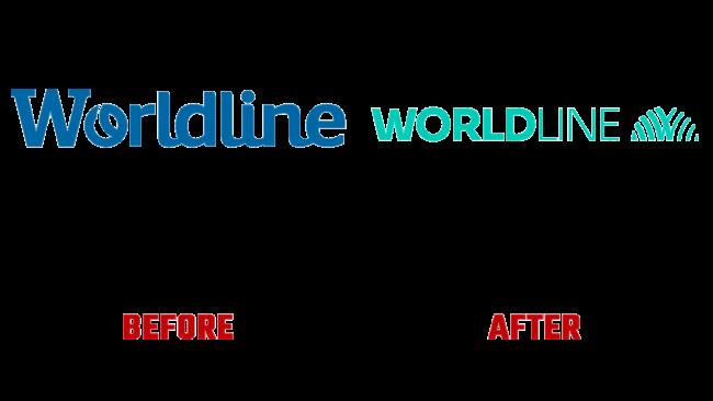 Worldline Vorher und Nachher Logo (Geschichte)